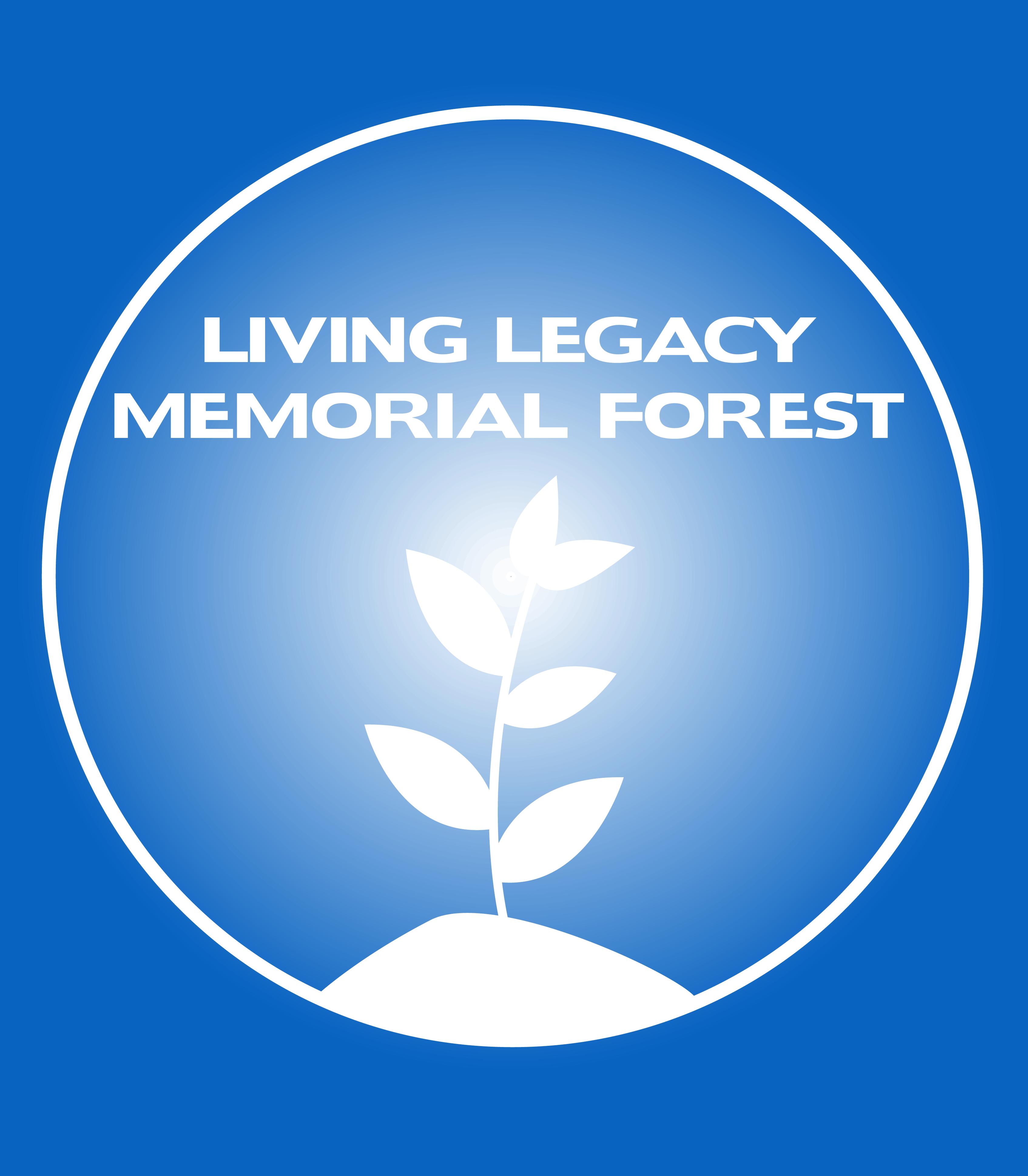 Wellington Sanctuary - Living Legacy Memorial Forest PLANTING DAY Blue Logo w- Blue Text